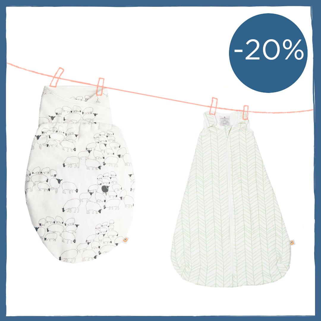 Ergobaby Swaddler + Schlafsack Sparpaket - 20% Rabatt